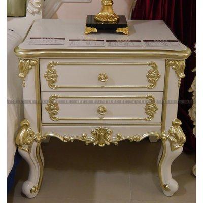 [紅蘋果傢俱] MDS-011 床頭櫃 新古典 現代 歐式 法式床頭櫃