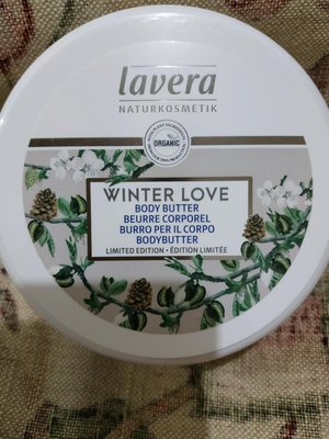 11. Lavera organic winter love body butter  150ml
