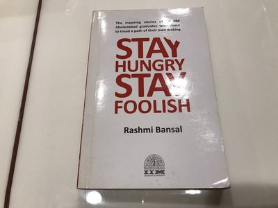 二手英文原文書 Stay hungry stay foolish