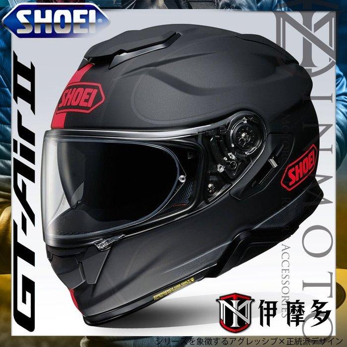 伊摩多※公司貨 日本SHOEI GT-AIR II 2全罩安全帽 加長內墨片 通風透氣 REDUX TC-1 紅黑