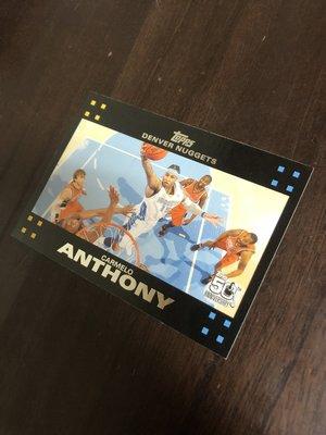 CARMELO ANTHONY   WALLACE   2007 TOPPS 50紀念卡 15 卡片如圖