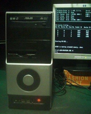 跑早期純DOS系統【窮人電腦】自組華碩DOS系統電腦主機出清!雙北桃園以北可送外縣可郵寄!