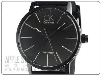 【蘋果小舖】CK Calvin Klein post-minimal 凱文克萊夾層時尚皮帶錶-IP黑 # K7621401
