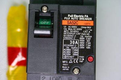 FUJI 富士 斷路器 開關 FAB NFB SA52C 2P 30A 日本製 無熔絲