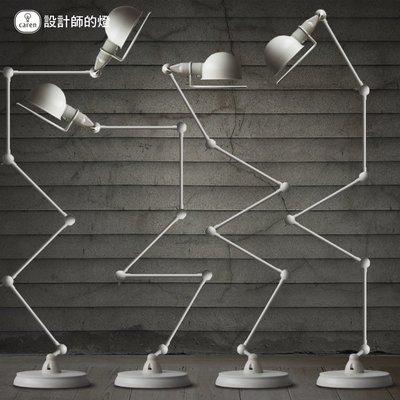設計師的燈歐式簡約創意復古工業大號黑金長臂機械手臂五節落地燈