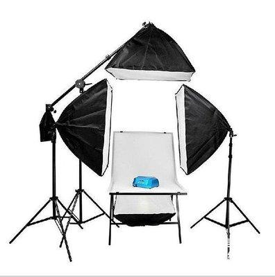 【格倫雅】^贈送毛氈4色背景布 攝影器材攝影棚套裝 靜物拍攝臺攝影燈455[g-l-y01