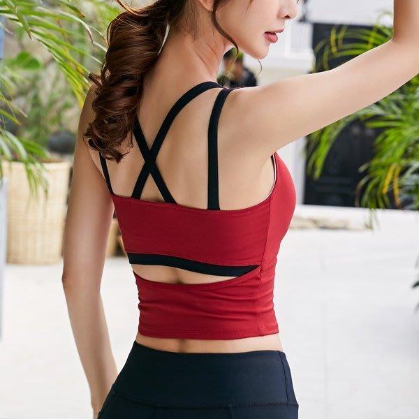 瑜珈衣 #2069 性感美背帶胸墊吊帶衣