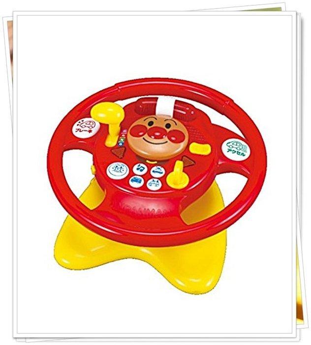 新版 日本正版 麵包超人 方向盤玩具 音樂玩具 312692 奶爸商城