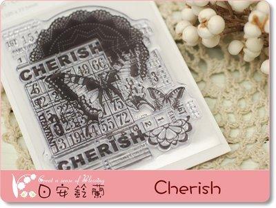 ╭* 日安鈴蘭 *╯ 彩繪 蝶古巴特 ~ 透明水晶印章 - CS831 Kaiser Craft  Cherish 珍愛