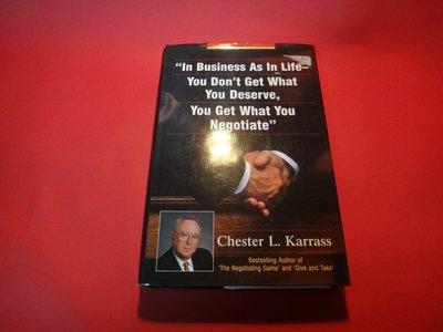 【愛悅二手書坊 19-57】In Business As in Life, You Don't Get-