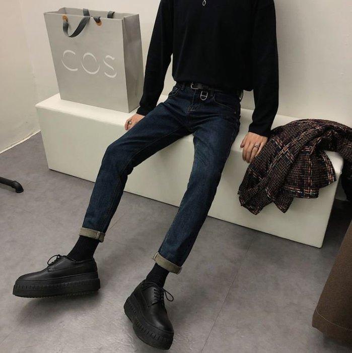 【NoComment】街頭休閒百搭 質感簡約 原色直筒修身牛仔褲 Levis Uniqlo