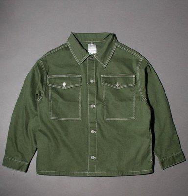 日牌POWER TO THE PEOPLE 工作 軍裝 襯衫軍綠 重磅 RAGEBLUE,HARE,BEAMS,UR