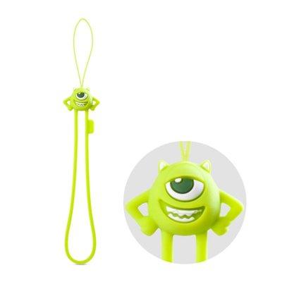 正BONE 防刮彈力吊繩 大眼仔 怪獸電力 毛怪手機 吊飾 掛飾 可愛 動物  鑰匙圈 柔軟 彈性 矽膠 裝飾