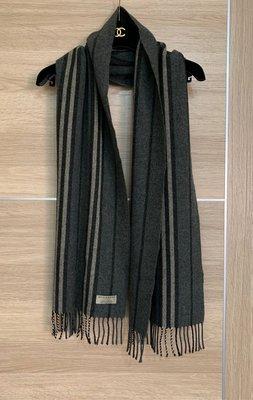 已售 BURBERRY camelhair 極美黑灰米圍巾