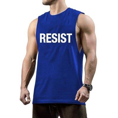 運動鍛煉休閑RESIST肌肉潮流健身背心 Muscles