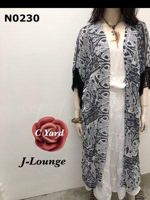 N0230 全新轉star Q韓版C Yard波希米亞嬉皮流蘇雪紡紗長罩衫bohemian cloak J-Lounge