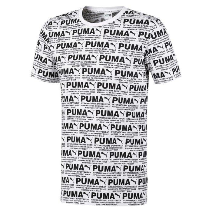 PUMA 男性流行系列 Avenir AOP 短袖T恤-白色-歐規 597197-02