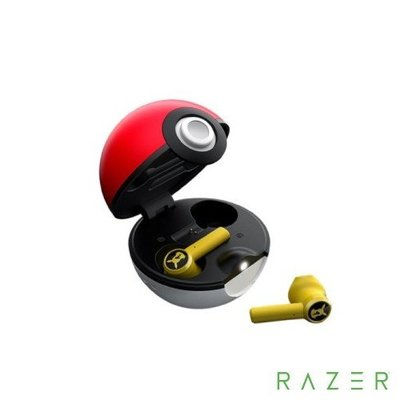 現貨 Razer雷蛇 精靈寶可夢 皮卡丘 精靈球 真藍牙無線耳機皮卡丘聯名限定款【板橋魔力】
