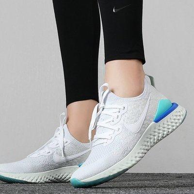 女鞋 Nike Epic React Flyknit 2 編織慢跑鞋 輕量透氣 白藍雪花 BQ8927-105 公司貨