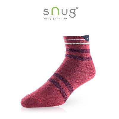 SNUG 休閒短襪 棗紅色 除臭襪 短襪  羽嵐服飾