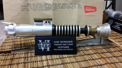 Star wars rotj version luke  Skywalker lightsaber 1:1 scaled custom made mr efx