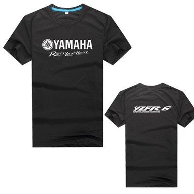 高品質夏款  yamaha revs your heart R6 機車 stunt moto 摩托 速幹 T恤 衣服