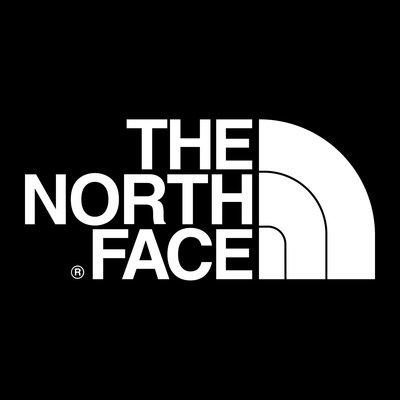 The North Face 黑底白字 方框 LOGO 3M防水貼紙 尺寸88mm
