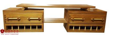 [紅蘋果傢俱] L218 電視櫃 100%台灣製造 客制 原木實木 置物架 酒櫃 TV邊櫃 地櫃 高低櫃 黃花梨 黃檀