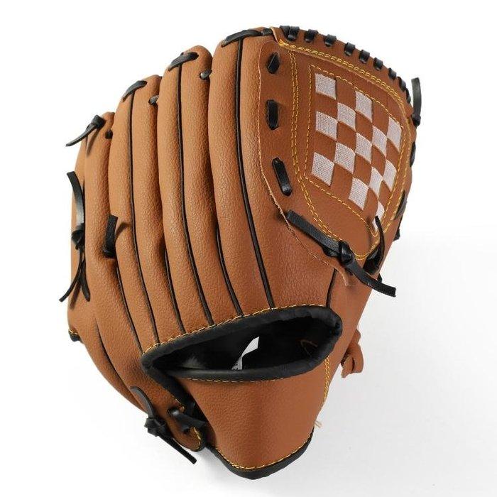 加厚壘球棒球手套兒童少年內野內場投手棒壘球手套