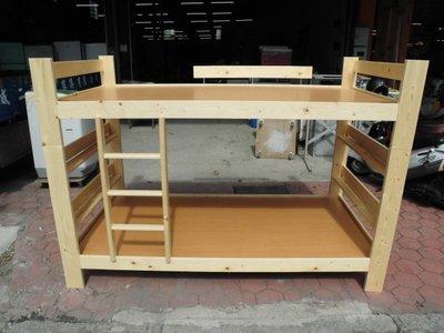 全新品  松木3.5尺上下鋪&二手家具台中權威 單人床 排骨床 子母床