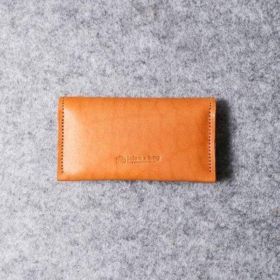 真皮雙層名片夾 卡包 可刻字 焦糖棕