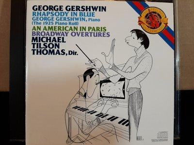 Thomas Gershwin-Rhapsody In Blue,An American In Paris,湯姆斯,蓋希文-藍色奇想曲,一個美國人在巴黎,如新。