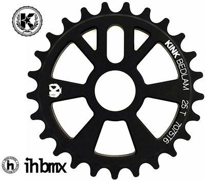 IH BMX KINK Bedlam 齒盤 25T 黑色 地板車單速車街道車極限單車特技車土坡車下坡車滑板直排輪DH表演車場地車特技腳踏車Fixed Gear