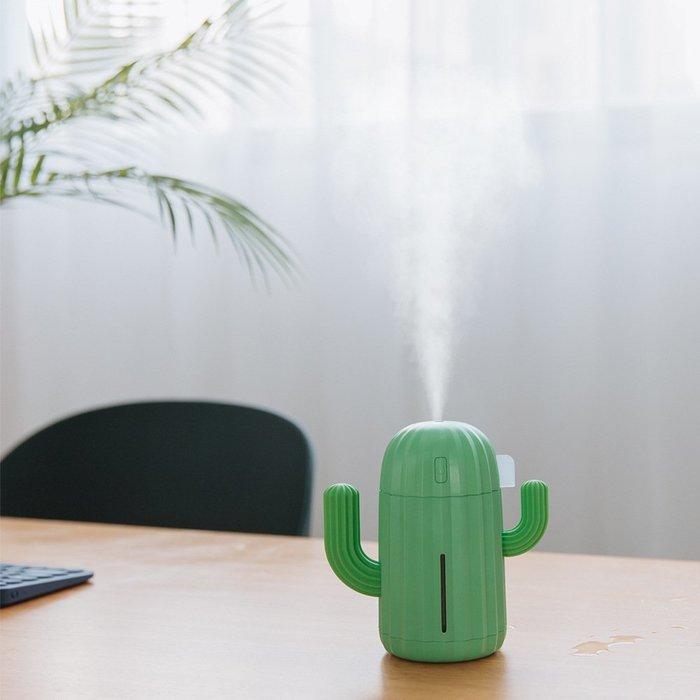 仙人掌USB可充電加濕器 無線保濕噴霧機 水氧機 薰香機 空氣加濕機 小夜燈 精油燈 保濕精油 生日 情人節 交換禮物