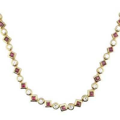 【JHT金宏總珠寶/GIA鑽石專賣】天然紅寶石套鍊/材質:18K(JB46-A17)