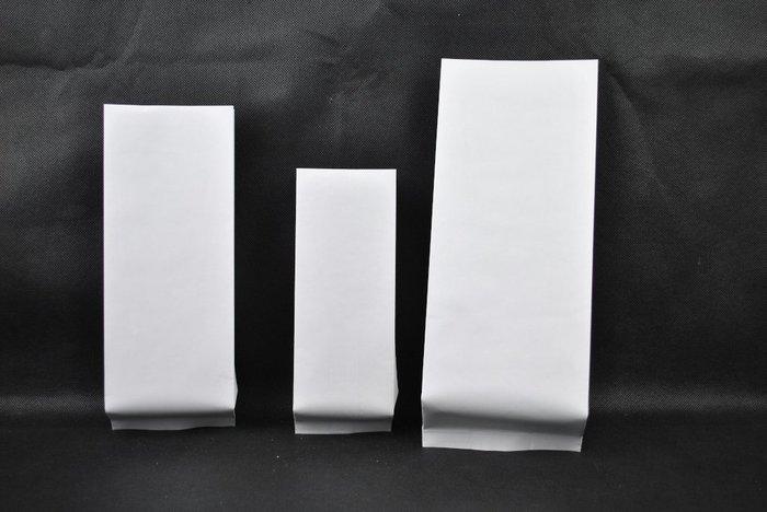 HB103 高級白牛皮 純白 合掌包裝袋 100~120克 1/4磅 不含閥(100入)