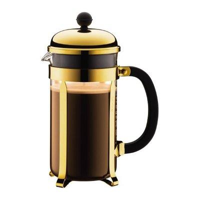 丹麥 Bodum 香檳金-1928-17 1L 8 cup CHAMBORD Coffee Maker 法式濾壓壺