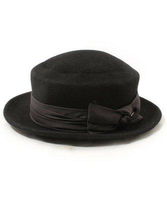 Ca4La日本製 *手工羊毛硬挺質感 側邊蝴蝶造型+swarovski小水鑽 紳士帽側邊 林依晨最愛款(NO.897)