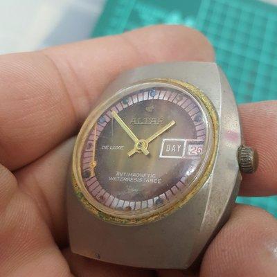 漂亮 機械錶<行走順暢掉針>男錶 手上鏈 非 OMEGA ROLEX SEIKO MK IWC CK CITIZEN CASIO TELUX 三眼錶 A04