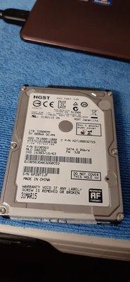 如新品 HGST 1tb 2.5吋硬碟 7200轉  (hitachi toshiba wd segate 可參考) 台南市