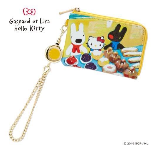 【莓莓小舖】正版 ♥ Sanrio 三麗鷗 Hello Kitty x 麗莎與卡斯柏 伸縮拉扣零錢包 鑰匙包