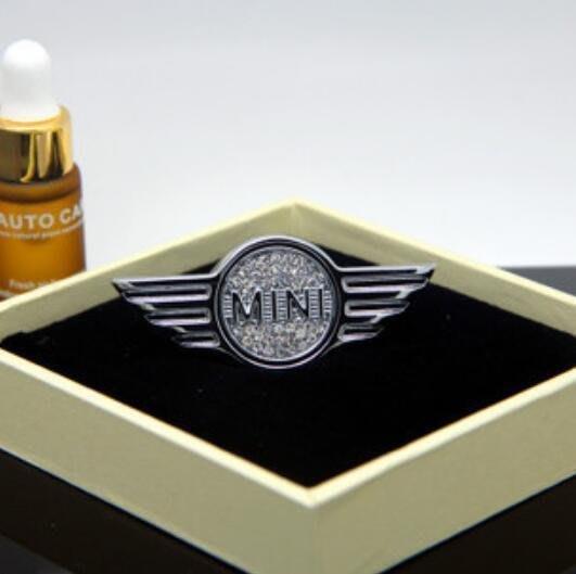 ⑦色花**寶馬迷你MINI空調出風口鑲鉆香水夾車內用香薰除異味香水座裝飾品