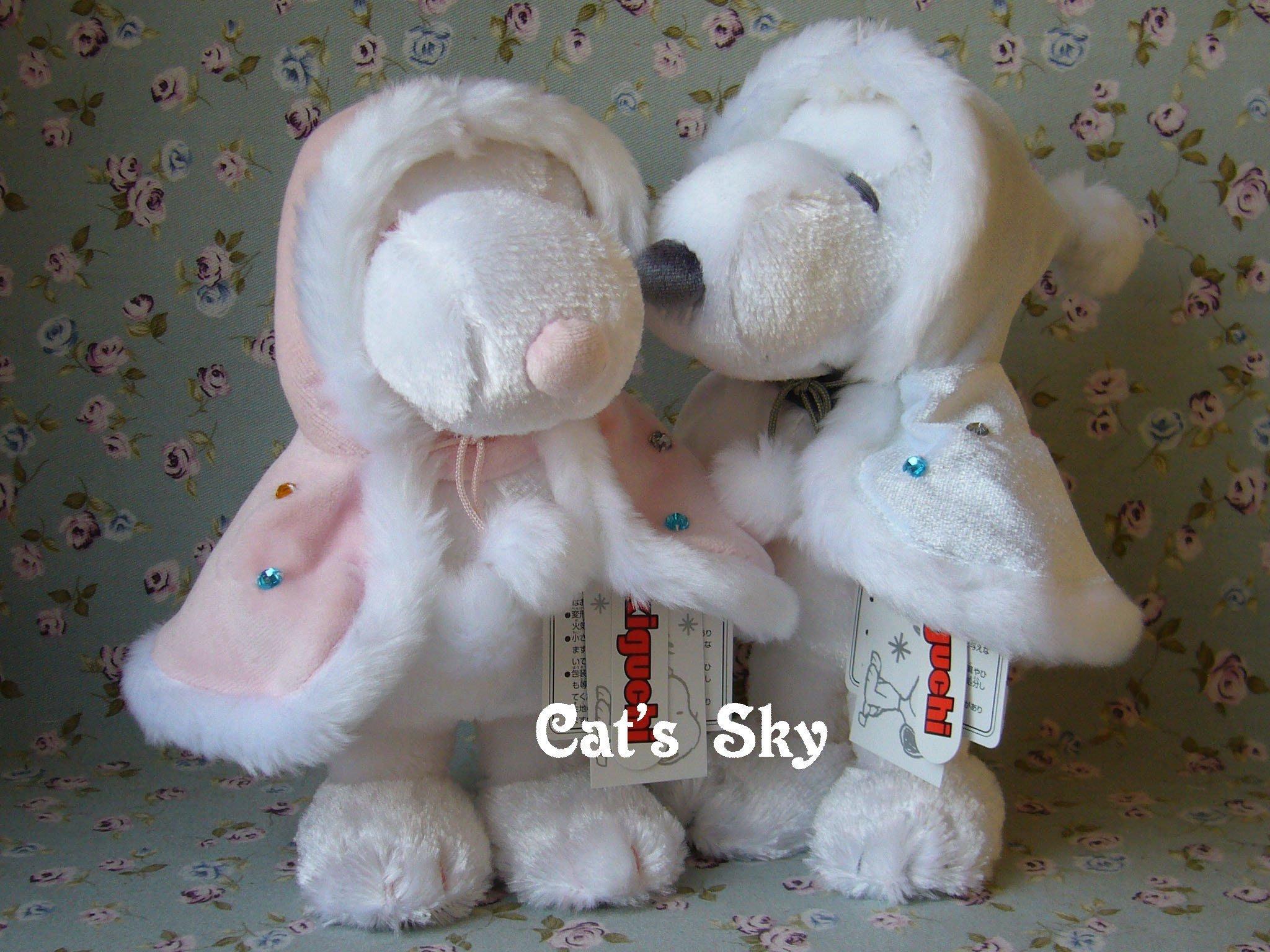 《Cat Sky》日本進口SNOOPY銀白限量款.水鑽亮片披風史努比玩偶