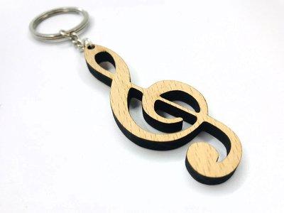 【老羊樂器店】 木質 音符 鑰匙圈 譜號 吊飾 飾品