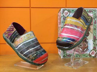 【阿典鞋店】**Macanna**麥坎納專櫃~穆夏系列~法國麵包~遠山版~炫彩彩虹鞋~牛皮+羊皮~全新氣墊鞋331370
