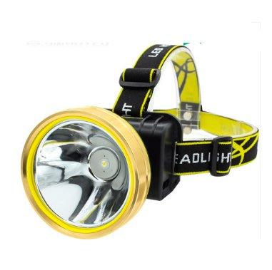 超亮頭戴式鋰手電筒打獵夜釣魚礦燈氙氣 戶外led感應頭燈強光10000W 日常照明 野營 夜釣套頭手電筒