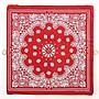 *姑姑熊*~日本商品。紅色棉質民族風包。可折疊式。百搭~金鍊帶