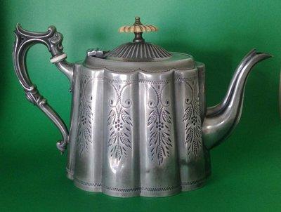 255 高級英國維多利亞不列顛壺Antique Silver Plate Tea Pot