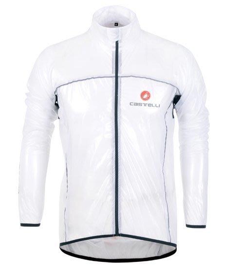 【購物百分百】新款castelli蠍子戶外運動透明風衣 自行車騎行風衣 防風防雨風衣雨披 白色