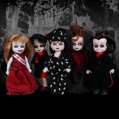 萬聖節Halloween 全新絕版紙棺材連吊頸繩鬼娃Living Dead Dolls LDD Minis Series 2一套